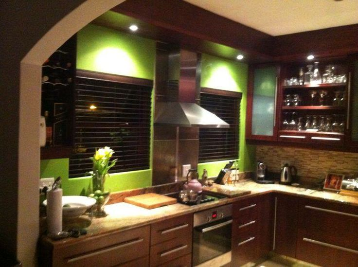 """Our first """"own"""" change in the kitchen...lime green..ooh la la"""