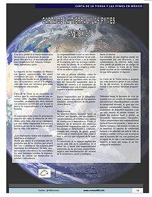 """Artículo """"Carta de la Tierra y las Pymes en México"""" publicado en Revista 400  / Desarrollo Sustentable   #CartadelaTierra"""