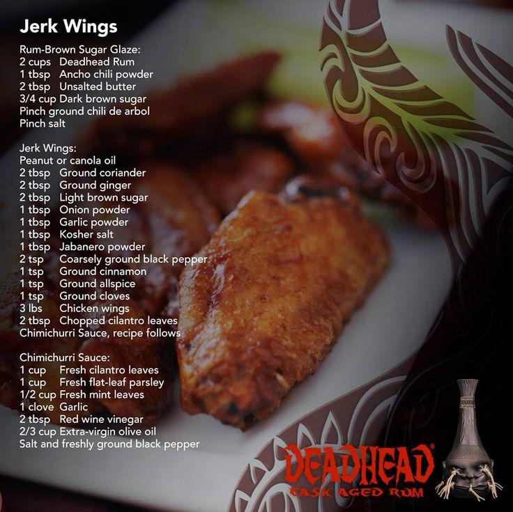 DeadHead Rum Jerk Wings Recipe