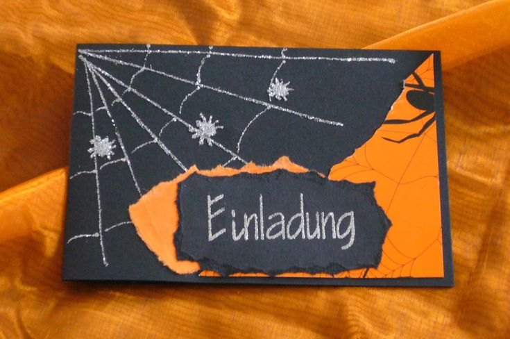 5 Stk. Einladung Halloween Einladungskarte Kindergeburtstag