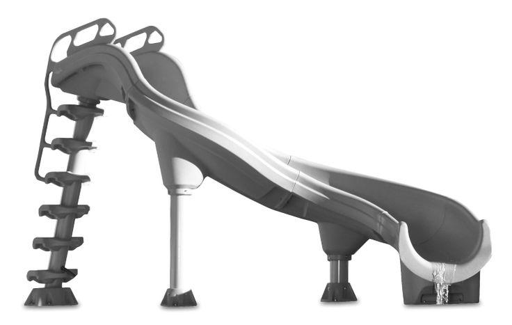 Amazon.com : Inter-Fab. ADR1-CL Adrenaline Slide, Complete Left Turn, Summit Gray : Patio, Lawn & Garden