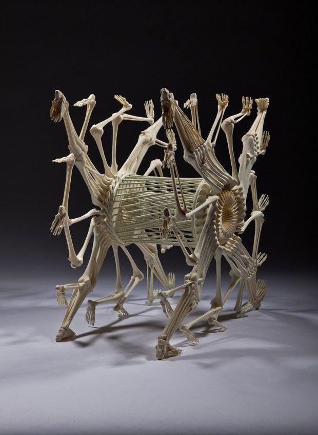 Bone Sculpture by Monika Horčicová