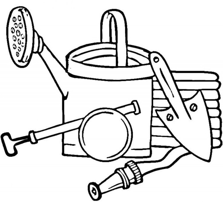 Garden Tools Coloring Pages For Kids 800x725 800