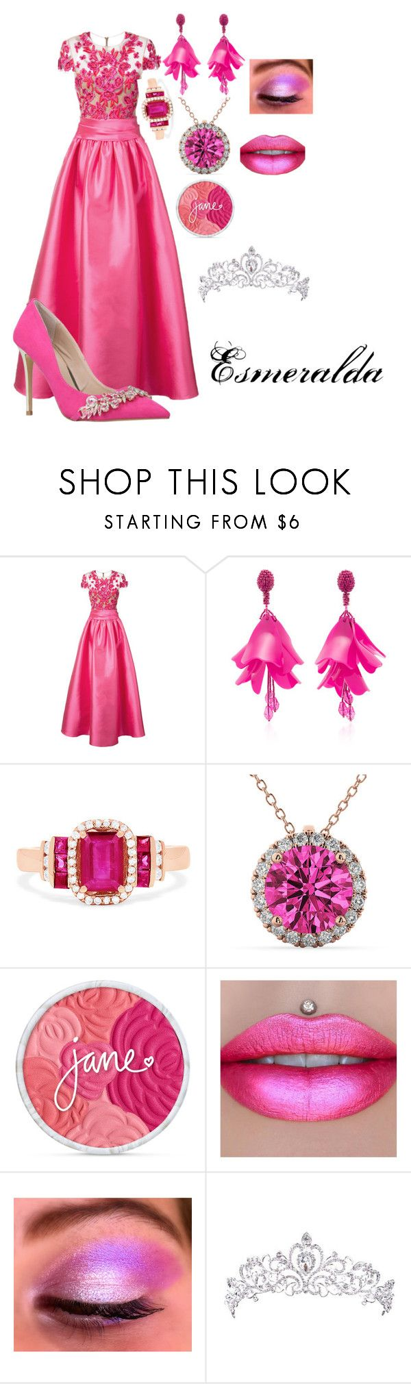"""Esmeralda's Makeover - The Selection of the Queen"" by gryffindormermaid ❤ liked on Polyvore featuring Notte by Marchesa, Oscar de la Renta, Effy Jewelry, Allurez, CO and Carvela"