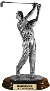 For the Winner or For Father's Day -- This #Golfer #Trophy is the Perfect Gift! http://www.crownawards.com/StoreFront/CRMGFS.ALL.Trophies.8_1-2%22-10%22_Golfer_Male.prod: Golfer Trophy, Golf Trophy