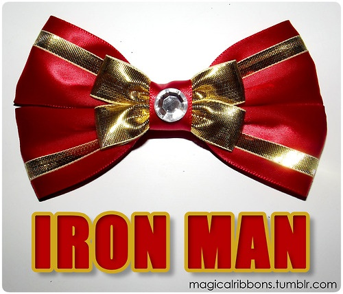 Iron Man bow from Magical Ribbons. I need this for next summer in California.