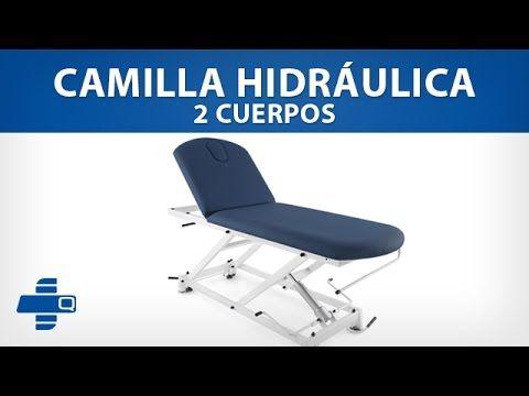 Camilla hidráulica de 2 cuerpos (501-CHQM2062-AZ) #camilla #fisioterapia #medicina #salud