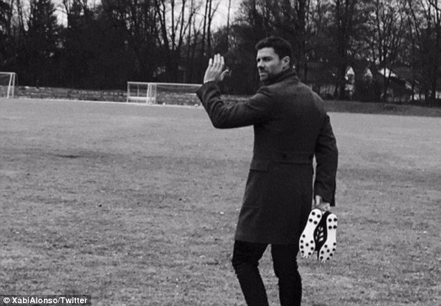 Xabi Alonso took to Twitter on Thursday morning to confirm his decision to retire