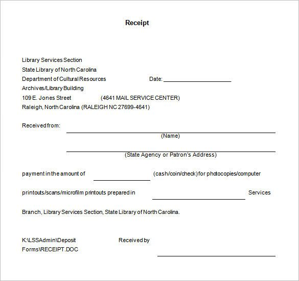 Letter Of Receipt Of Documents Template