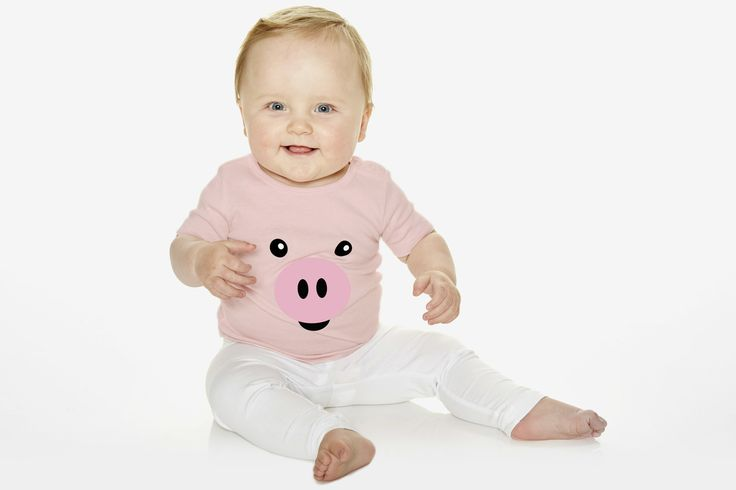 Pig t-shirt for kids and infants. Available now at www.reallywildchild.com. Really Wild Child. Made for little animals.
