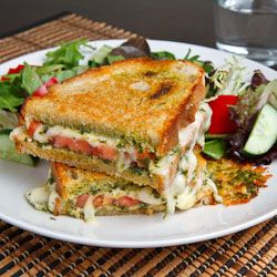 Caprese grilled cheese sandwich, another heart healthy food!