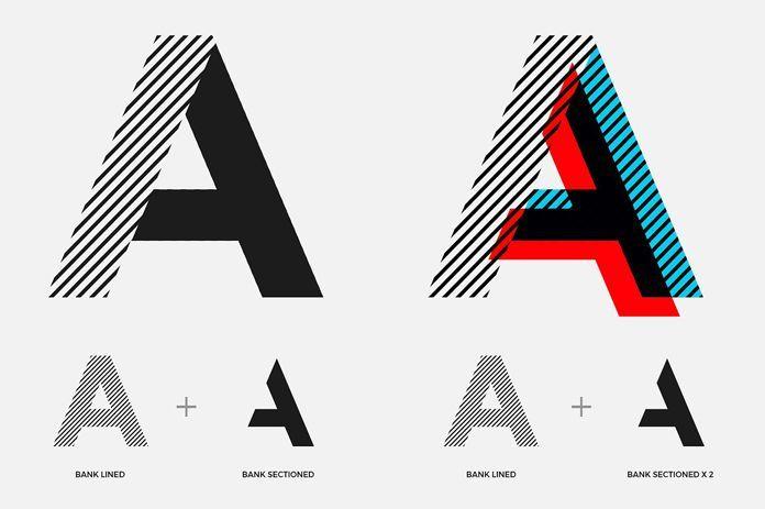 Bank – Modern, Layered Display Typeface
