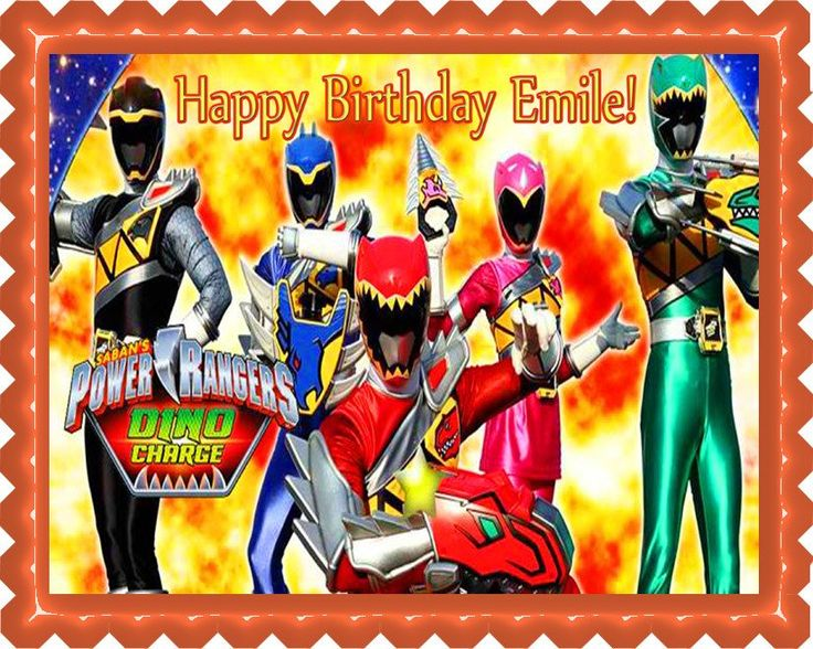 Power Rangers Dino Charge 1 Edible Cake OR Cupcake Topper – Edible Prints On Cake (EPoC)