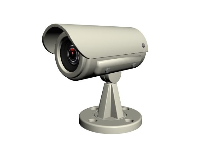 Security and video surveillance camera 3d model
