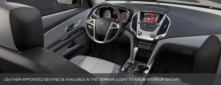 2014 #GMC #Terrain Small SUV with leather-appointed seating in light titanium http://www.chevyoftulsa.com/inventory_search.php?=N=GMC=SUV