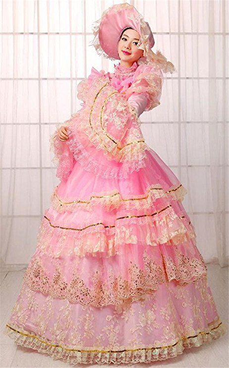49f3343bd2a2 FENIKUSU Women s Gothic Victorian Fancy Dress Prom Palace Masquerade Ball Gown  Costume  Clothing  lolita  dress