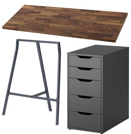 best 25 ikea desk ideas on pinterest. Black Bedroom Furniture Sets. Home Design Ideas