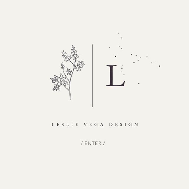Leslie Vega Design splash page design, web design,…