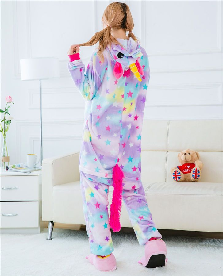 Clothes, Shoes & Accessories Kids Rainbow Unicorn Kigurumi