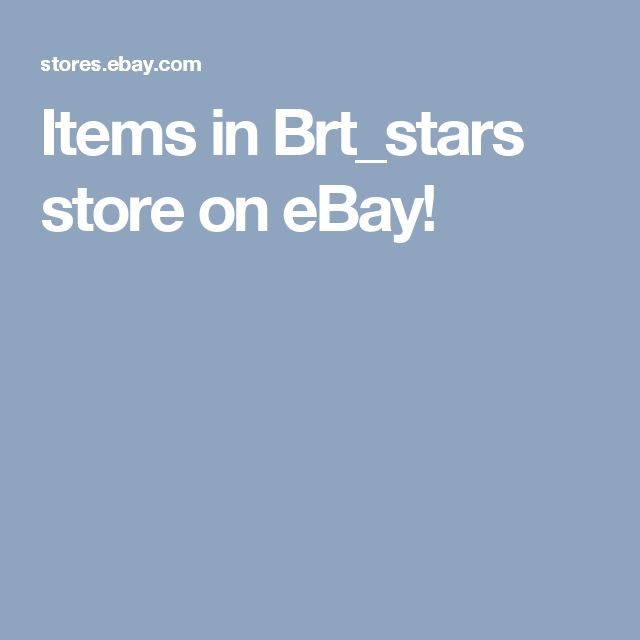 Items in Brt_stars store on eBay!