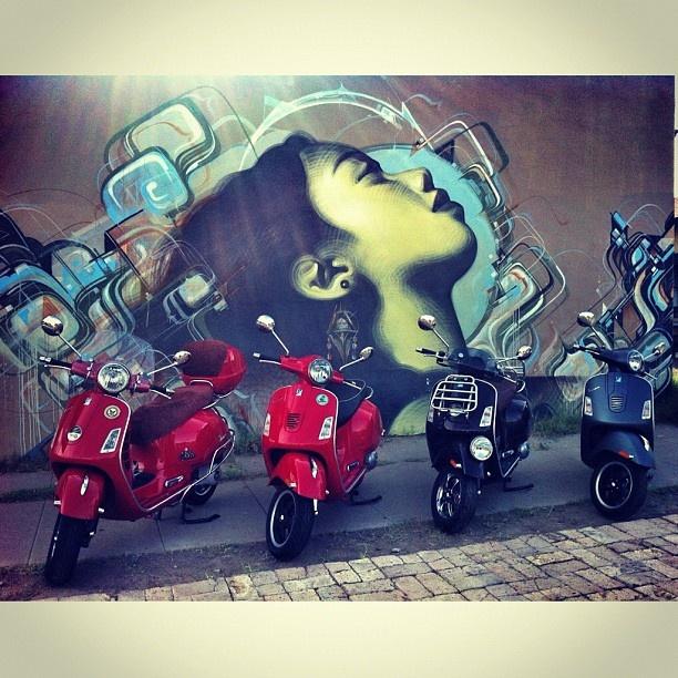 Beautiful Vespas in front of my favorite Phoenix mural #vespaaz #vespa #vespas #vespaclub #vespamania #vespamaniacs #vespabatam #vespamaniacs #vespagram #vespas #piaggio #scooters #scooter #iphoneonly #iphoneography #iPhone4 #jj #instamood #instagood #allshots #instatalent #ig #igdaily #picoftheday #bestoftheday #gf_daily #phoenix #instaaz
