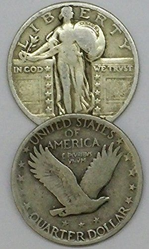 Coin Set: 1916 Through 1930 Standing Liberty Quarter Ag. Some Dates Unreadable. Listing Is For .50C Face Value. Quarters. 90% Silver Old Us Coins. Ag-03