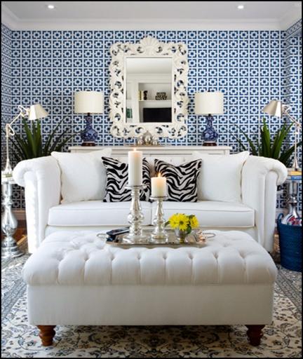 Navy livingroom.  Get professional design plans from only $ 250 per room!  http://www.interiordecoratingwindsor.com  #interiordecorating