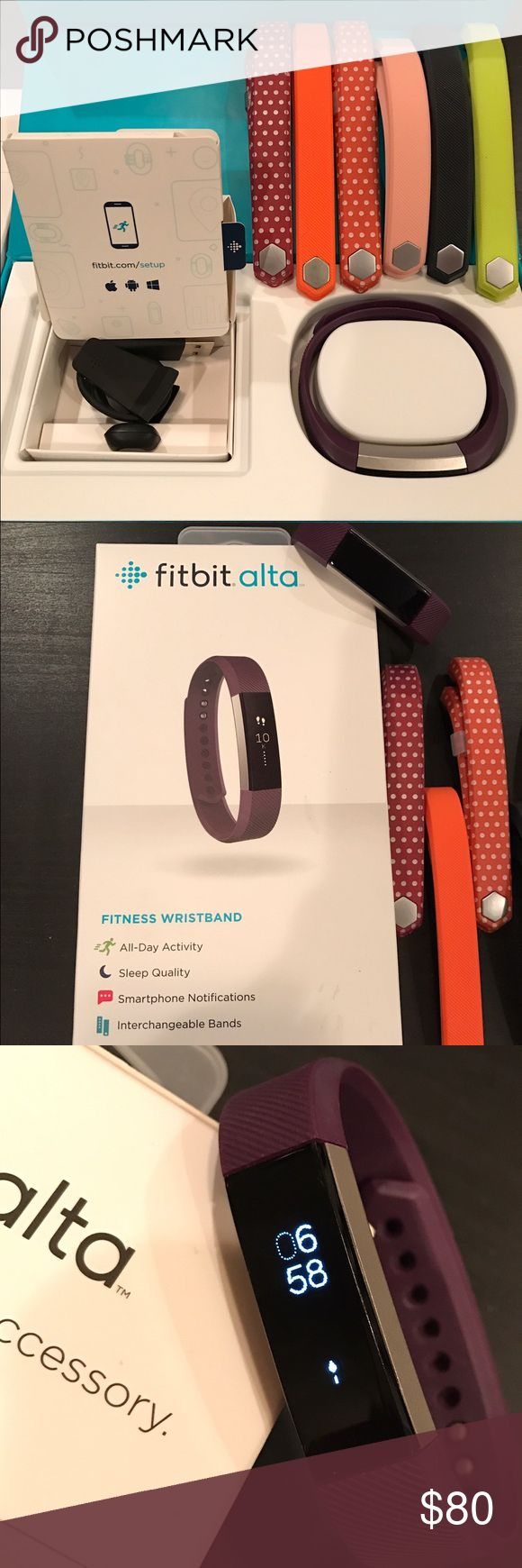 Selling this Fitbit Alta on Poshmark! My username is: hokiewife421.  #shopmycloset #