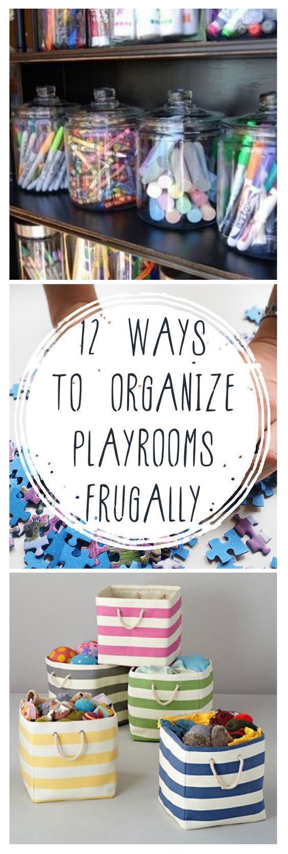 12 Ways to Organize Playrooms Frugally