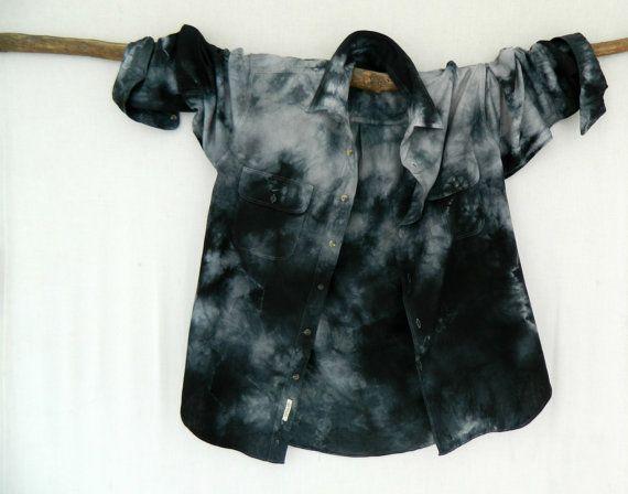WAYFARER . men's tie dye shirt . XXL  XXLarge  by bohemianbabes