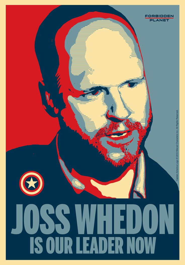 Joss Whedon Is Our Leader Now window poster designed for Forbidden Planet.