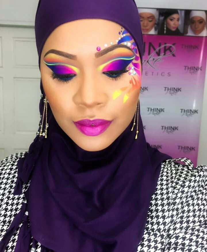 Carnival makeup by Pinky