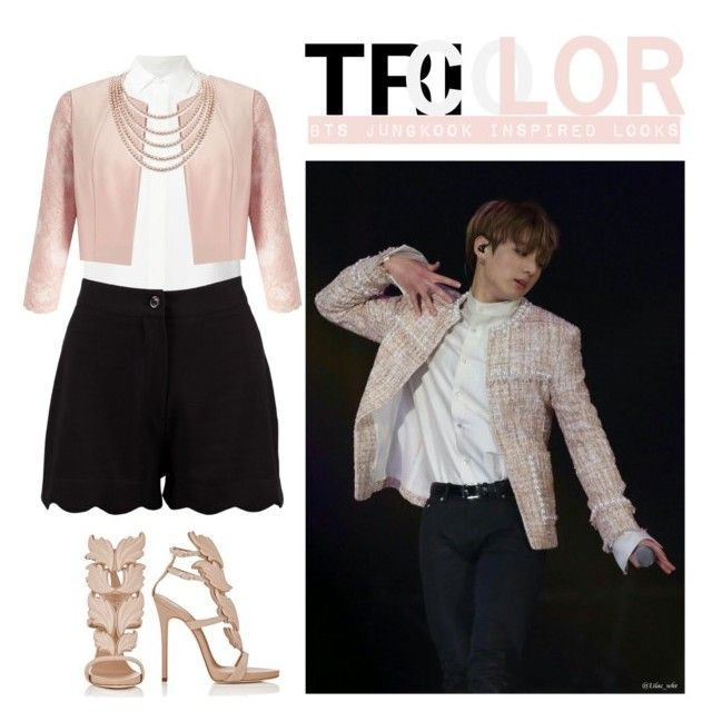 """""""BTS Jungkook Inspired TRICOLOR Looks"""" by bluemoon019 on Polyvore featuring Ralph Lauren, Boohoo, Miss Selfridge, DaVonna and Giuseppe Zanotti"""