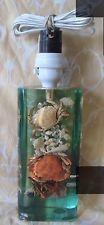 1960-70's Aquatic Lucite Perspex Plastic Crab & Shell Table Lamp Retro Kitsch