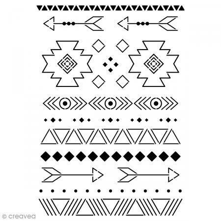 Pochoir multiusage A4 – Motifs Ethniques – 12 motifs