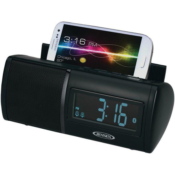 Jensen Universal Bluetooth Dual Alarm Clock Radio – USMART NY