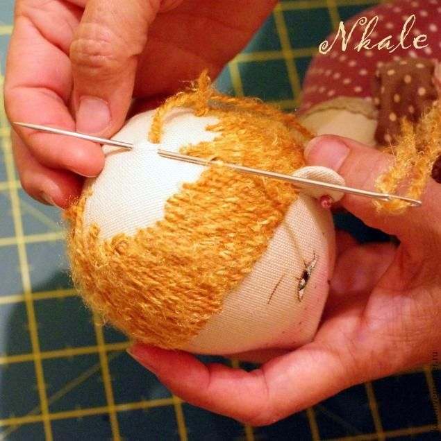 doll hair from Nkale: Bigudyushki - Fair Masters - handmade, handmade