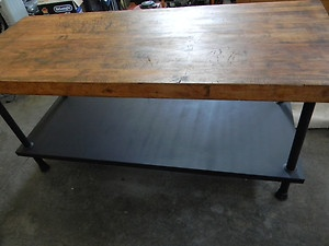 6ft Long Butcher Block Kitchen Island Table