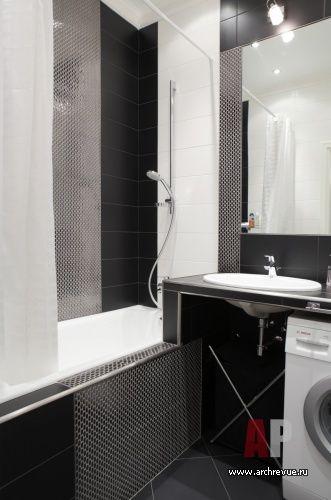 Фото интерьера санузла небольшой квартиры в стиле фьюжн