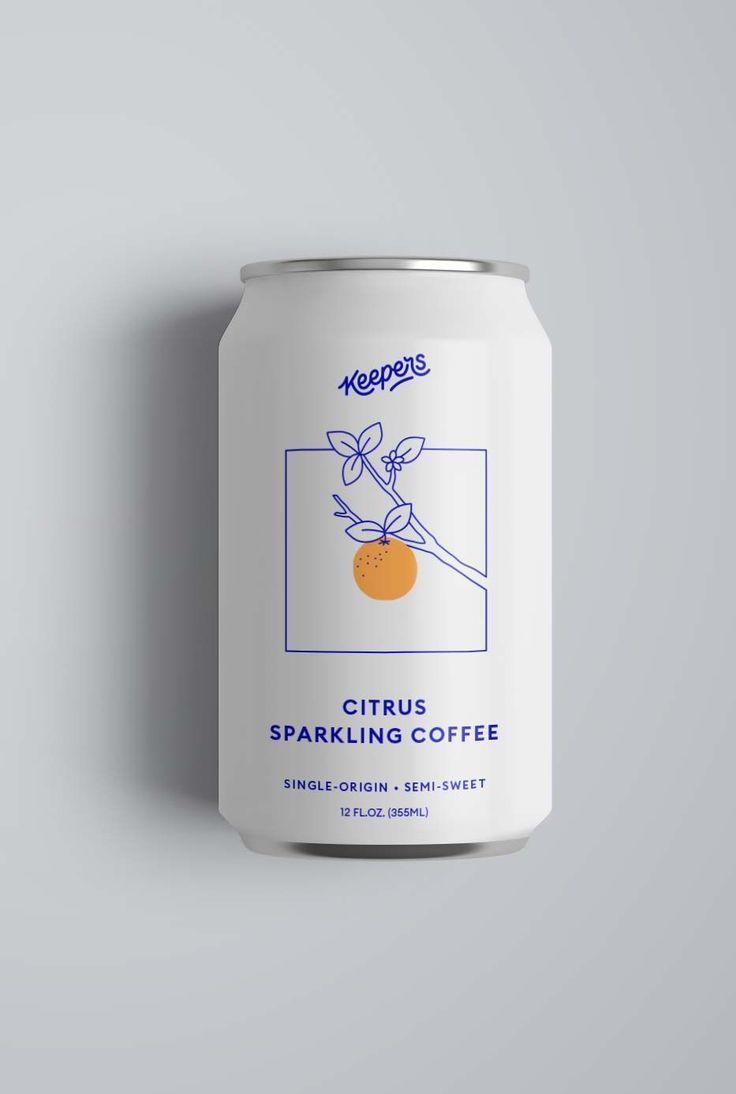 Glowing Espresso brewed naturally in Brooklyn -#packaging #simplebranding #moder…