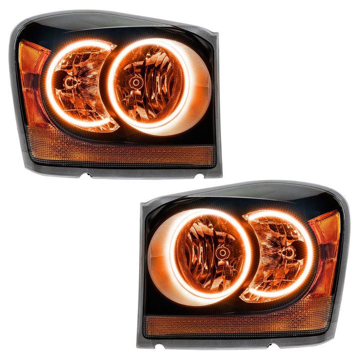 2005-2007 Dodge Durango ALL PLASMA Headlights - Black - Pair