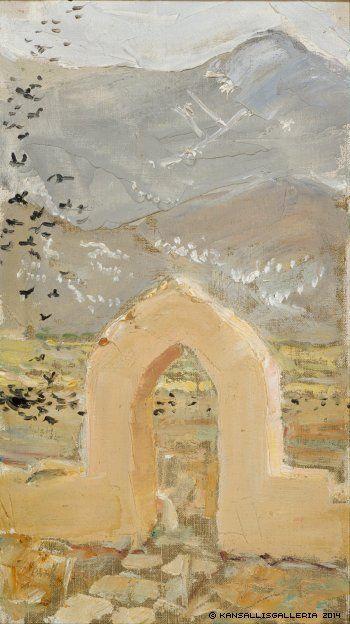 AKSELI GALLEN-KALLELA Gate in Taos (1925)