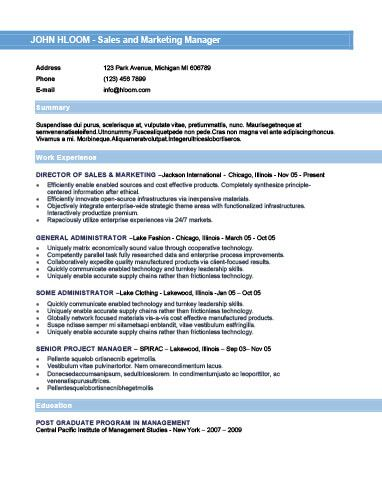 25+ unieke ideeën over Chronological resume template op Pinterest - what is chronological resume