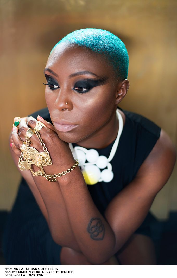 Laura Mvula wearing Marion Vidal ceramic necklace for 1883 ...