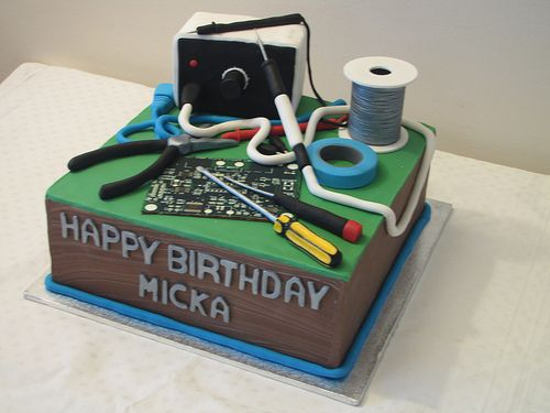 "Micka's computer cake | 10"" chocolate mud with hand made sug… 