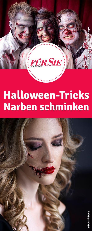 Halloween-Tricks Narben schminken