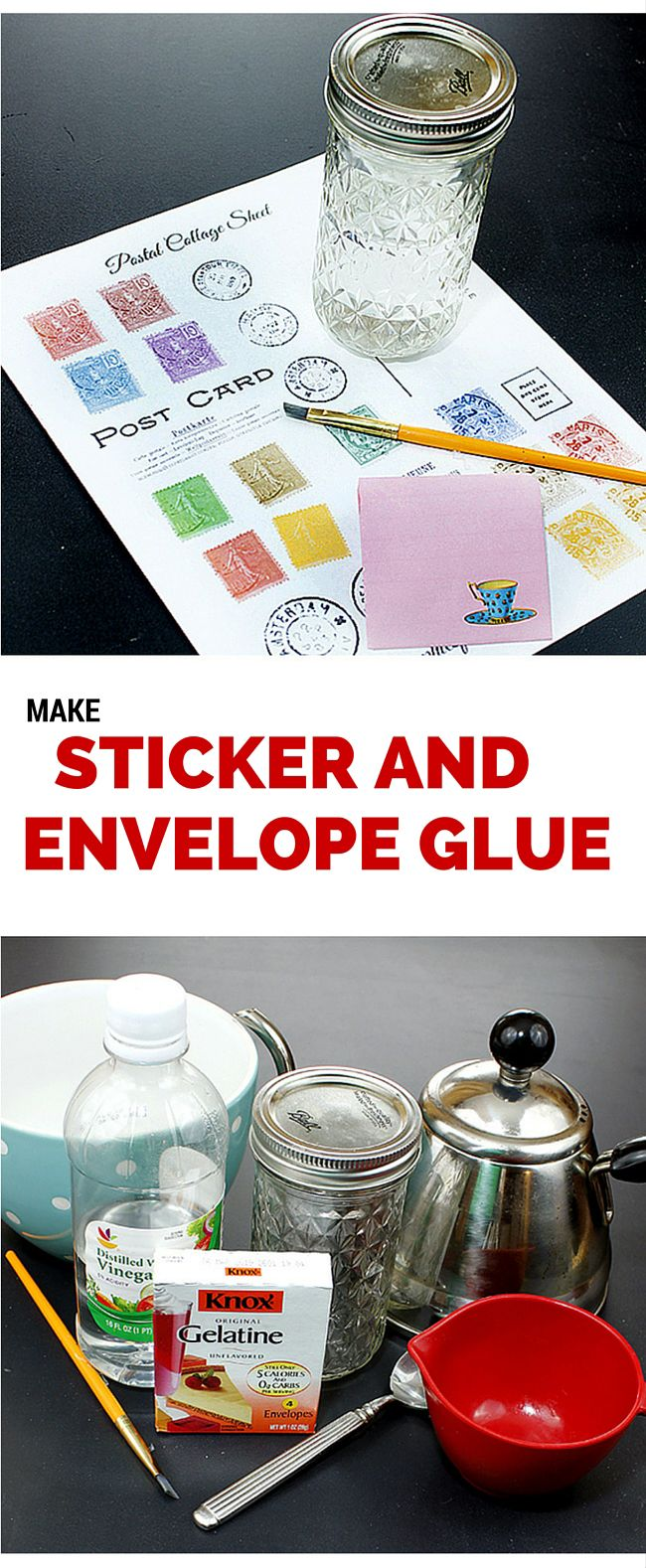 Make your Own Envelope and Sticker Glue! The Graphics Fairy. DIY your own Craft Supplies with this easy economical glue recipe, to use on Envelopes and Stickers!