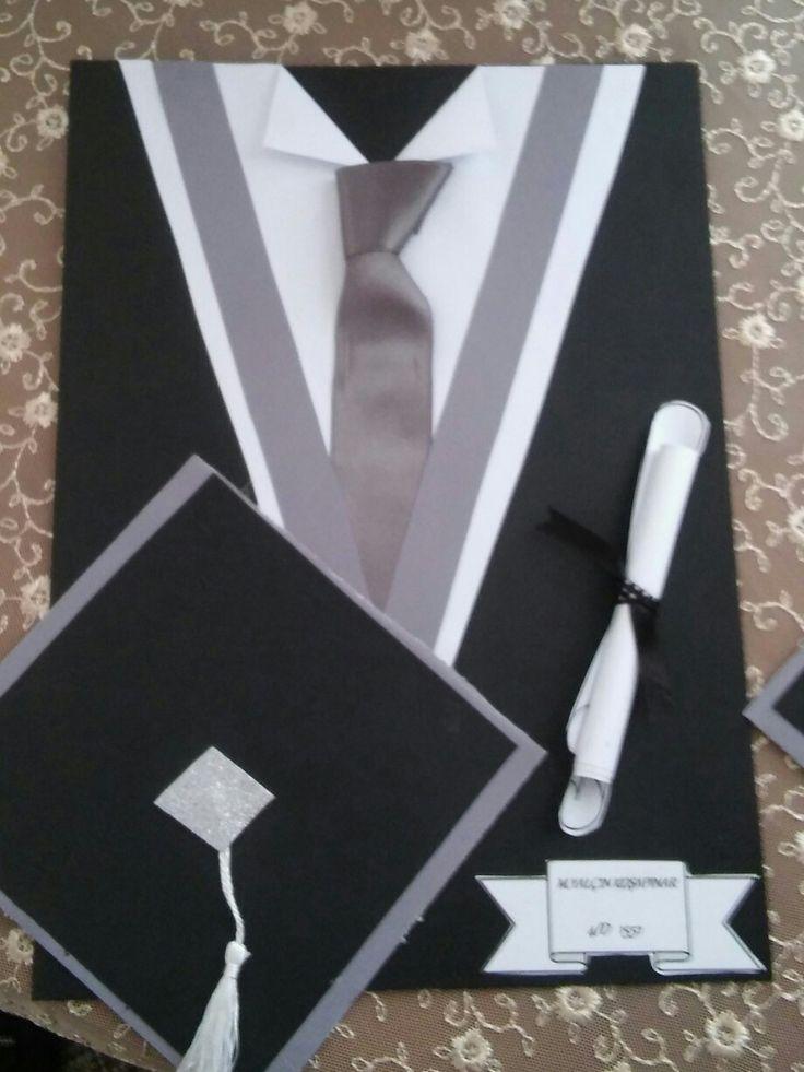 Mezuniyet davetiye ,yıl sonu mezuniyet karne dosyası ,kep