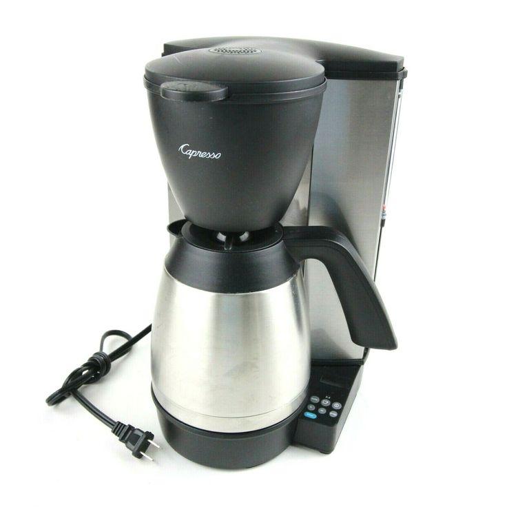 Capresso mt600 plus 10 cup coffee maker programmable 485