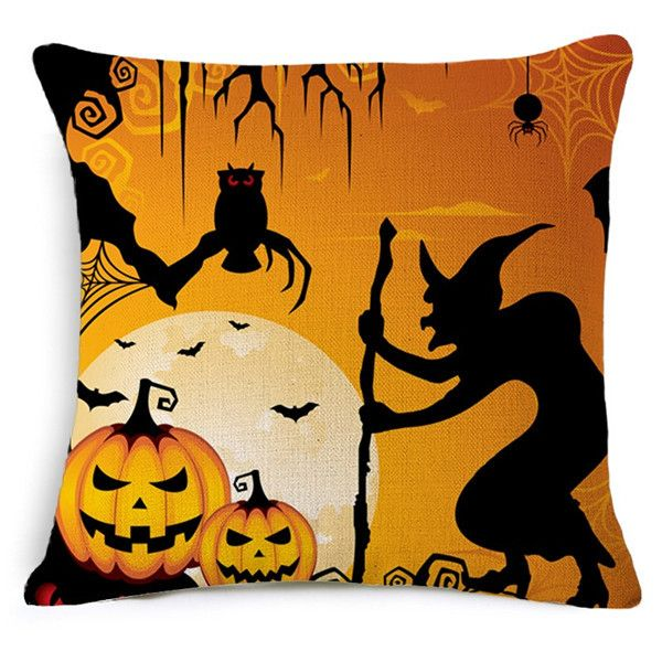 Yellow Cushion Covers Halloween Throw Pillow Covers Car-Covers Pillowcover Sofa Decor Couch Plain Cushion Covers For Chair Cojin